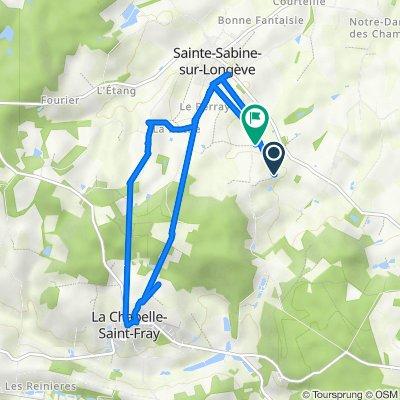 Reprise Sainte-Sabine-sur-Longève à Le Tremble, Sainte-Sabine-sur-Longève