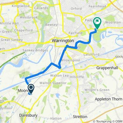 The Rookery, Hobb Lane, Warrington to 425 Manchester Road, Warrington