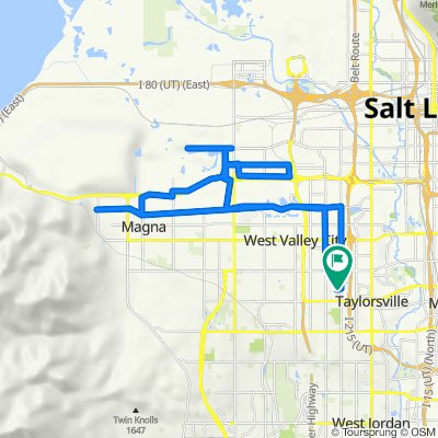 4492 S Parkbury Way, West Valley City to 4489 S Parkbury Way, West Valley City