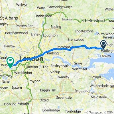 229 Thundersley Park Road, Benfleet to 8 Cornwall Road, Twickenham