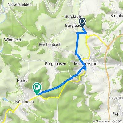 St2445, Burglauer nach Münnerstädter Straße, Nüdlingen