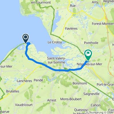 De Route Blanche, Cayeux-sur-Mer à Route du Crotoy 54, Noyelles-sur-Mer