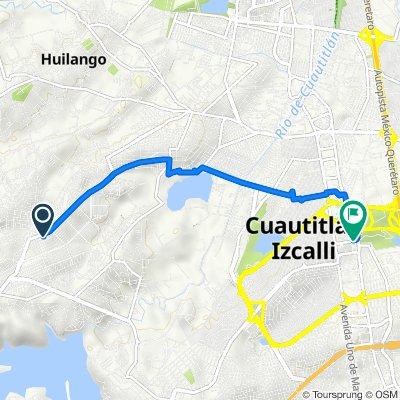 De Avenida San Juan Bautista 27, Cuautitlán Izcalli a Temoaya 17, Cuautitlán Izcalli