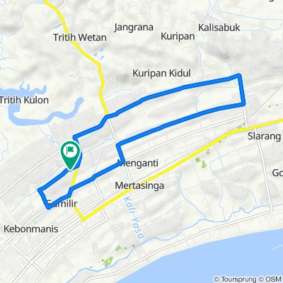Jalan Angsana 23, Kecamatan Cilacap Utara to Jalan Angsana 20, Kecamatan Cilacap Utara