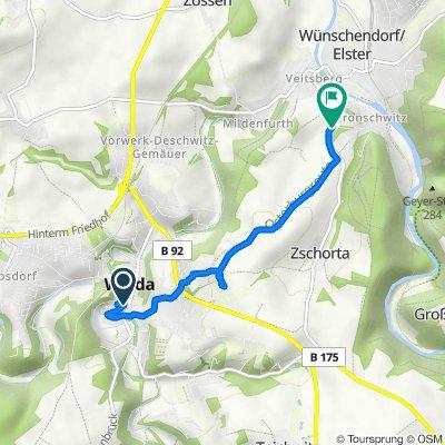 Stegstraße 2, Weida nach L2330, Wünschendorf/Elster