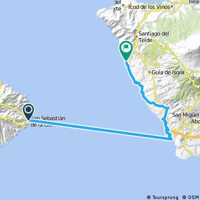 2000 - Teneriffa - 4. Tag - San Sebastián de la Gomera - Puerto de Santiago