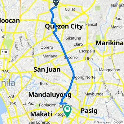 19 Congressional Avenue, Quezon City to 32nd Street, Makati City