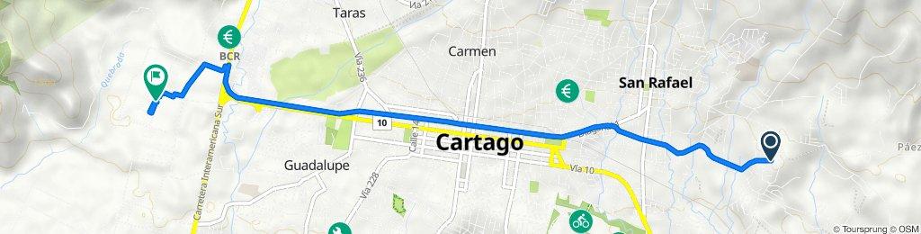 De Calle 59, Cartago a Unnamed Road, Cartago