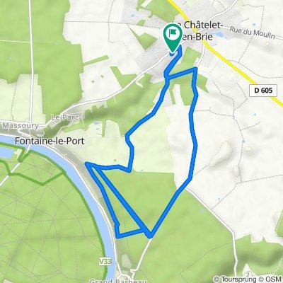 De 15 Route de Fontaine-le-Port, Le Châtelet-en-Brie à 15 Route de Fontaine-le-Port, Le Châtelet-en-Brie