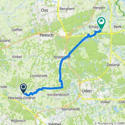 Het Geleer 33, Heeswijk-Dinther naar Scheltseweg 4, Schaijk