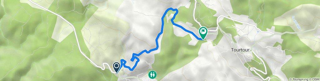 D557, Villecroze nach 126–128 Chemin de Camp Fournier, Tourtour