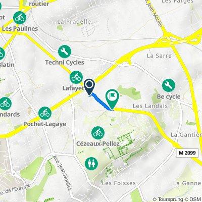 De 170 Boulevard Lafayette, Clermont-Ferrand à 16 Avenue des Landais, Aubiere