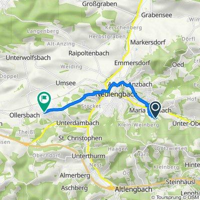 Lughofgasse 381, Maria-Anzbach nach Schönfelder Straße 66, Schönfeld