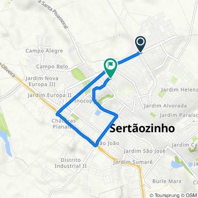 De Avenida Aléssio Mazer, 1195, Sertãozinho a Rua Nilo Moi, 261, Sertãozinho