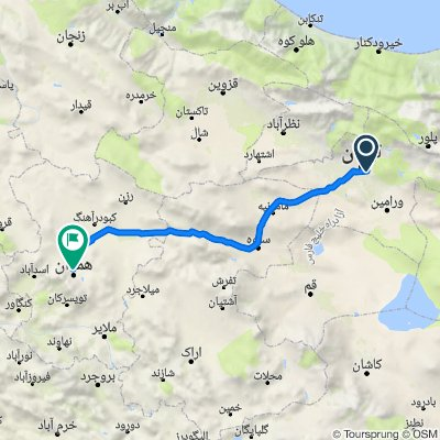 Route from رضا نوبخت, Shahr-e Rey