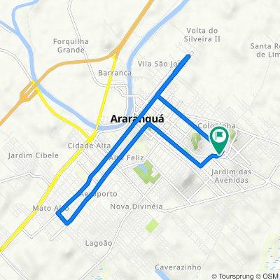 De Rua José Fernandes 78 a Rua Giovani Maciel Zeferino 38