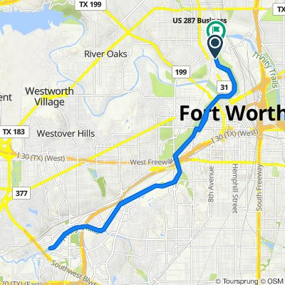 Route to 601 E Northside Dr, Fort Worth
