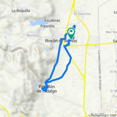 De Calle de la Concordia 108, Guadalupe a Calle de la Concordia 108, Guadalupe