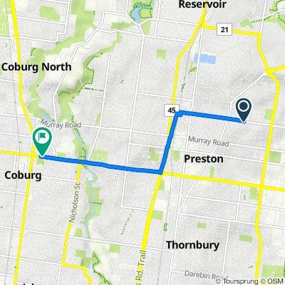 43 Dean Street, Preston to 90 Bell Street, Coburg