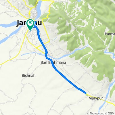Unnamed Road, Jammu to Unnamed Road, Jammu