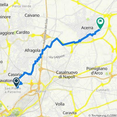 Da Via Liburia 38, Napoli a Via Spiniello 144, Acerra