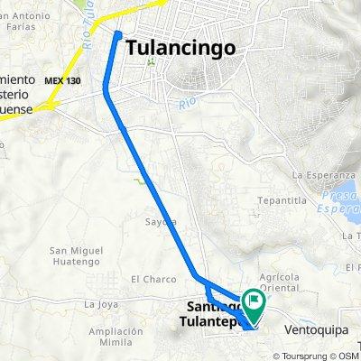 De Calle 18 de Marzo, Santiago Tulantepec de Lugo Guerrero a Calle 18 de Marzo, Santiago Tulantepec de Lugo Guerrero