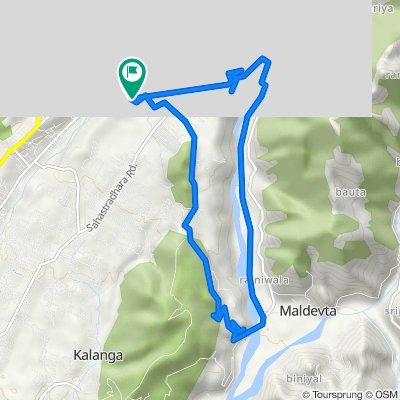 Route from Nagal Road, Dehradun