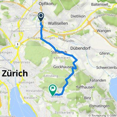 Brühlbachweg, Zürich nach Witikonerstrasse 289, Zürich