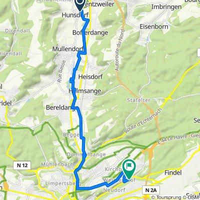 CR122, Lorentzweiler to Rue de Neudorf 294, Luxembourg