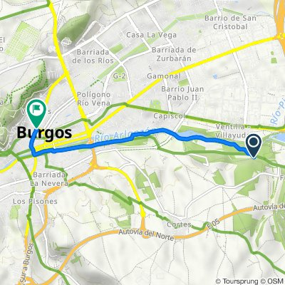 Diseminado Villayuda, 10, Burgos to Avenida del Cid Campeador, Burgos