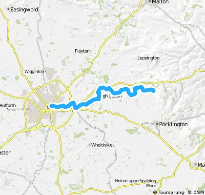 York to Bishop Wilton via Dunnington & Route 66