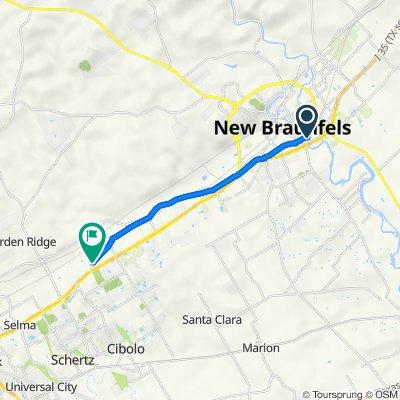 404 E Faust St, New Braunfels to 22256–22346 FM-2252, Schertz