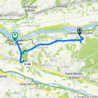 7 Vallée Saint-Martin, Lussault-sur-Loire to 2 Place François Mitterrand, Montlouis-sur-Loire
