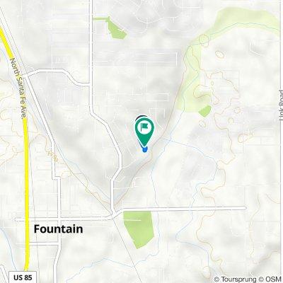 612 Wheat Field Rd, Fountain to 601 Wheat Field Rd, Fountain