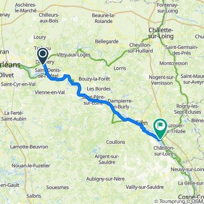 Route van 12 Impasse de la Touche, Donnery