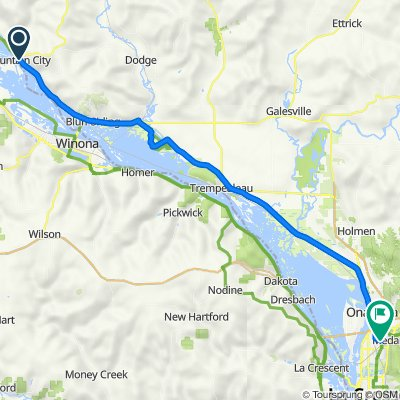 100–122 Washington St, Fountain City to 2174–2398 Kwik Trip Way, La Crosse