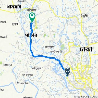 Hashem Khan Road 4, Dhaka to Teacher's Quarter Road, Savar Union