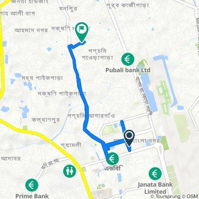 Sayed Mahbub Morshed Road, Dhaka to Omed Ali Mollah Road 27/1/Ga, ঢাকা