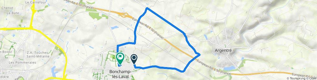 De 9 Impasse Ronsard, Bonchamp-lès-Laval à Route de Louverné, Bonchamp-lès-Laval