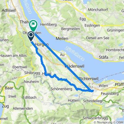 Zürcherstrasse, Oberrieden nach Fachstrasse 31, Oberrieden