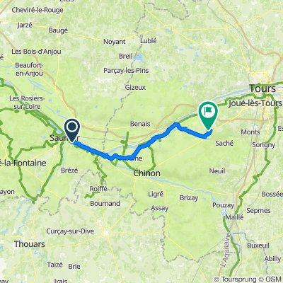 98 Route de Montsoreau, Saumur nach Le Gerfault, Azay-le-Rideau
