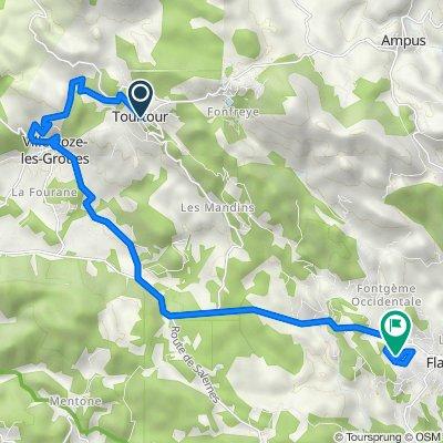 De 3 Place des Ormeaux, Tourtour à 353 Chemin du Ginesté, Flayosc