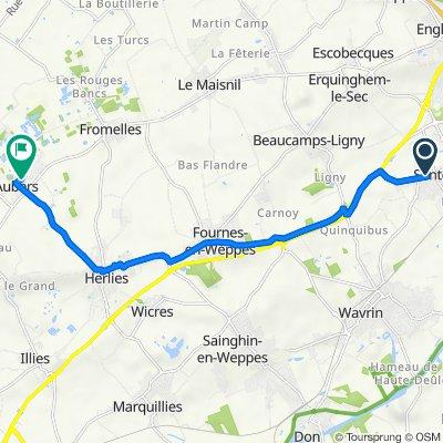 De 1 Clos des Moulins, Santes à 17 Rue d'Houdringue, Aubers