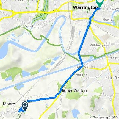 The Rookery, Hobb Lane, Warrington to 27 Church St, Warrington