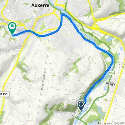 Itinéraire vers 31J Rue Louis Braille, Auxerre