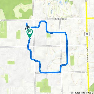 14850 Massasoit Ave, Oak Forest to 15005 La Palm Dr, Oak Forest