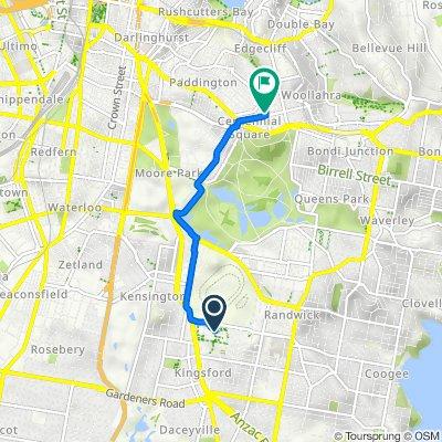 Third Avenue, Kensington to 64 Moncur Street, Woollahra