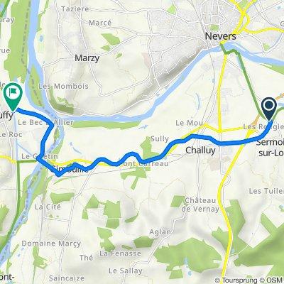 Chemin de Halage, Sermoise-sur-Loire to Rue de la Chaume 5, Cuffy
