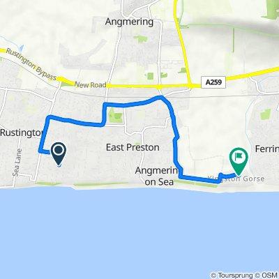 16 Evelyn Ave, Littlehampton to Downsview Road, Kingston Gorse, East Preston, Littlehampton