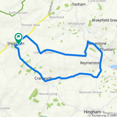 2–10 Richard Haggard Close, Shipdham, Thetford to 2–10 Richard Haggard Close, Shipdham, Thetford